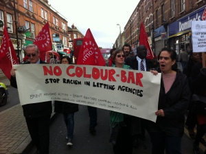 BHA Racist Agencies demo 15 Oct 13